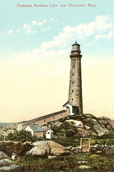 Thatchers Lighthouse, Gloucester--Art Print