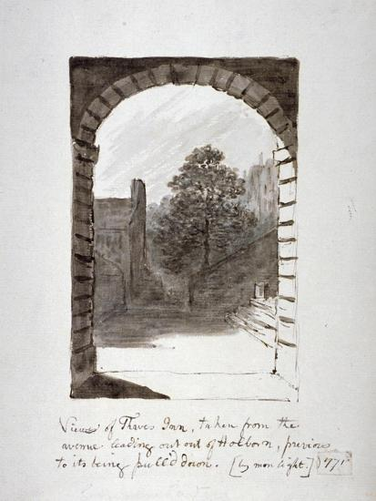 Thaves Inn (Ie Thavies In), Holborn, London, 1771-John Carter-Giclee Print