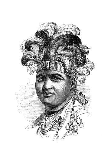 Thayendaneega, a Mohawk Chief, 1848--Giclee Print