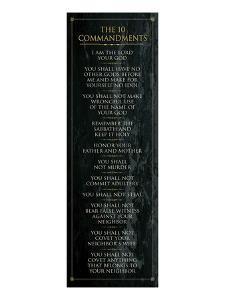 The 10 Commandments (black)