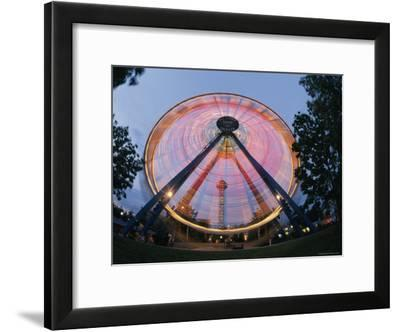 The 100-Foot-Tall Ferris Wheel in Six Flags Elitch Gardens-Richard Nowitz-Framed Photographic Print