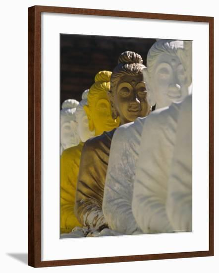The 106 Pieces of Cemented Buddha Statue at Wat Pangbua, Thailand-Alain Evrard-Framed Photographic Print