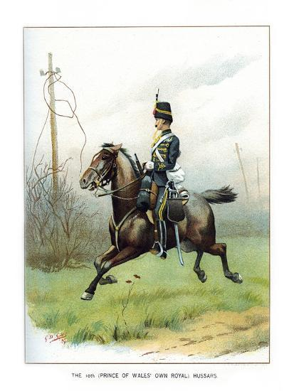 The 10th (Prince of Wales' Own Roya) Hussars, C1890-Geoffrey Douglas Giles-Giclee Print