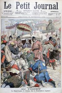 The 13th Dalai Lama Fleeing the British Invasion of Tibet, 1904