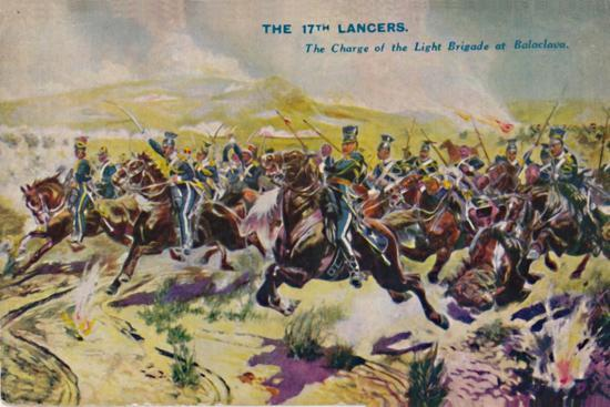 'The 17th Lancers. The Charge of the Light Brigade at Balaclava', 1854, (1939)-Unknown-Giclee Print