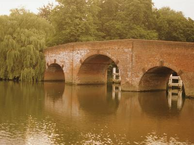 The 18th Century Sonning Bridge Over the River Thames Near Reading, Berkshire, England, UK-David Hughes-Photographic Print