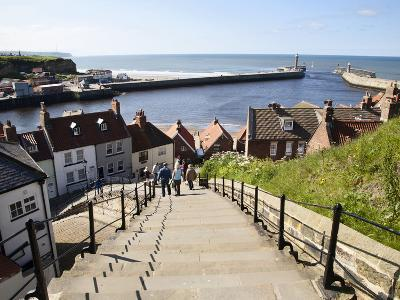 The 199 Steps in Whitby, North Yorkshire, England, United Kingdom, Europe-Mark Sunderland-Photographic Print