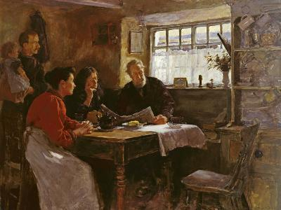 The 22nd January 1901 (Reading the News of the Queen's Death in a Cornish Cottage)-Stanhope Alexander Forbes-Giclee Print