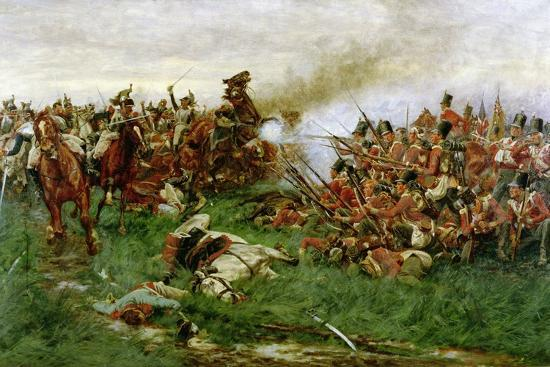 The 28th (1st Gloucestershire Regiment) at Waterloo, 1914-William Barnes Wollen-Giclee Print