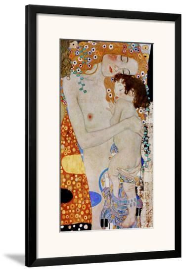 The 3 Ages of Woman (detail)-Gustav Klimt-Framed Giclee Print