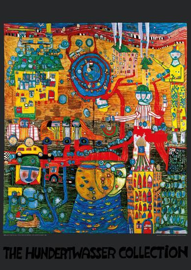 THE 30 DAYS FAX PAINTING-Friedensreich Hundertwasser-Art Print