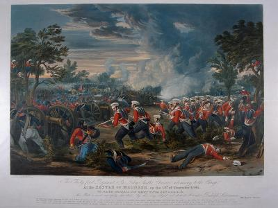 The 31st Regiment, Sir Harry Smith's Division Advancing to the Charge at the Battle of Moodkee…-Major G.F. White-Giclee Print