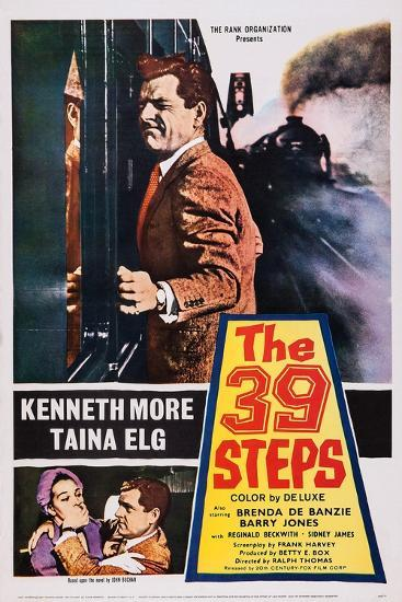 The 39 Steps, Kenneth More (Top), Bottom from Left: Taina Elg, Kenneth More, 1959--Art Print