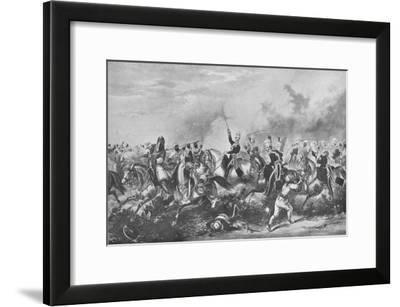 'The 3rd Light Dragoons at Chillienwallah, 1849', 1849 (1909)-John Harris Junior-Framed Giclee Print