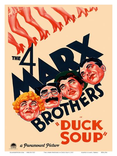 The 4 Marx Brothers in Duck Soup--Art Print