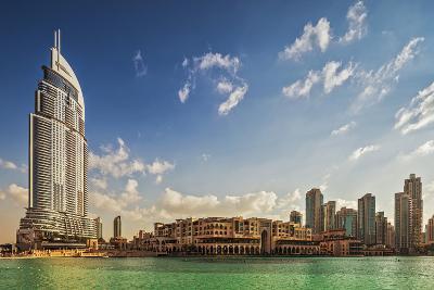 The 5 Star Address Downtown Dubai Hotel Designed by Architects Atkins and Souk Al Bahar-Cahir Davitt-Photographic Print