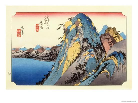 The 53 Stations of the Tokaido, Station 10: Hakone-juku, Kanagawa Prefecture-Ando Hiroshige-Giclee Print