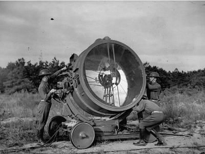 The 62nd Coast Artillery Concealing the Searchlight for Obvious Reasons-Carl Mydans-Premium Photographic Print