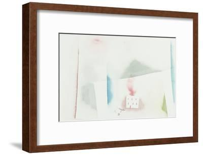 The Abandoned House; Brennendes Haus-Paul Klee-Framed Giclee Print