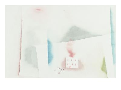 The Abandoned House; Brennendes Haus-Paul Klee-Giclee Print