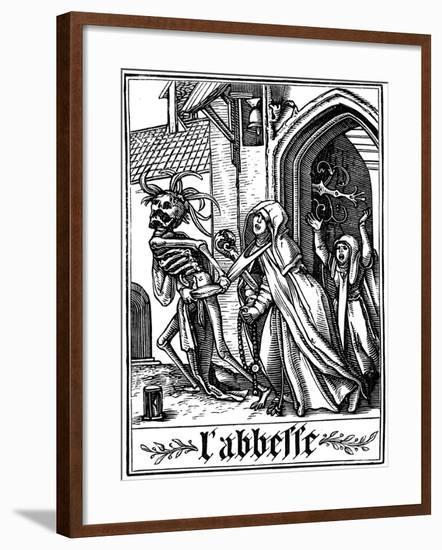 The Abbess Visited by Death, 1538-Hans Holbein the Younger-Framed Giclee Print