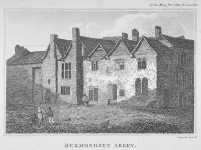 The Abbey of St Saviour, Bermondsey, Southwark, London, 1810-George Henry Andrews-Giclee Print