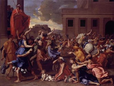 The Abduction of the Sabine Women, c.1633-34-Nicolas Poussin-Giclee Print