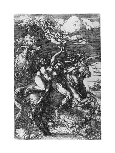 The Abduction on the Unicorn, 1516-Albrecht Durer-Giclee Print