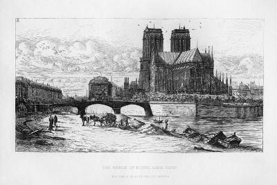 The Abside (Aps) of Notre Dame Cathedral, Paris, France, C19th Century-Charles Meryon-Giclee Print