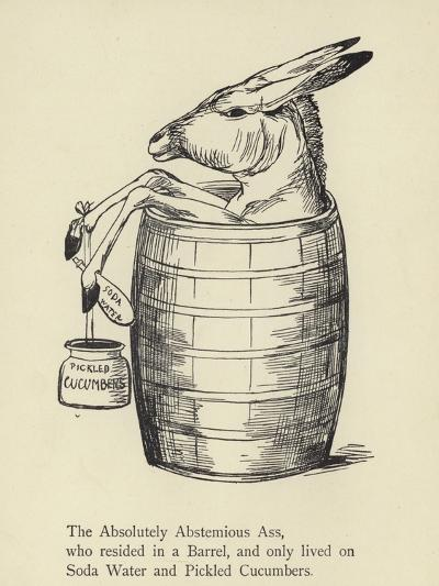 The Absolutely Abstemious Ass-Edward Lear-Giclee Print