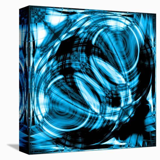 the abstract background of the line.--Stretched Canvas Print