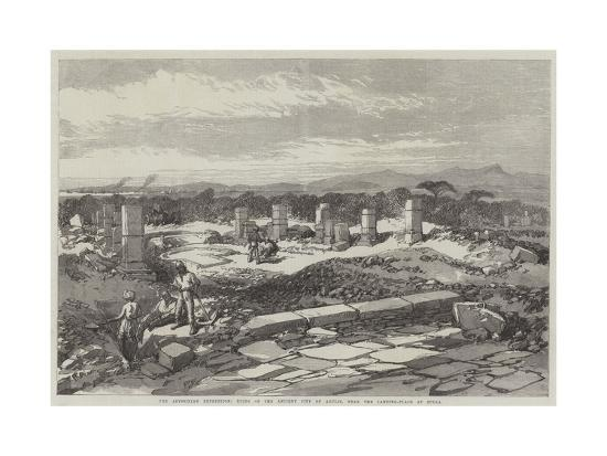 The Abyssinian Expedition, Ruins of the Ancient City of Adulis, Near the Landing-Place at Zulla--Giclee Print