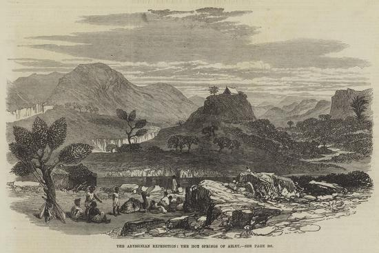 The Abyssinian Expedition, the Hot Springs of Ailet--Giclee Print