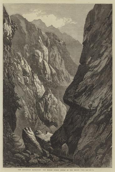 The Abyssinian Expedition, the Middle Sooroo Defile in the Senafe Pass--Giclee Print