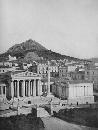 'The Academy, Mount Lycabettus in the background', 1913-Unknown-Framed Giclee Print