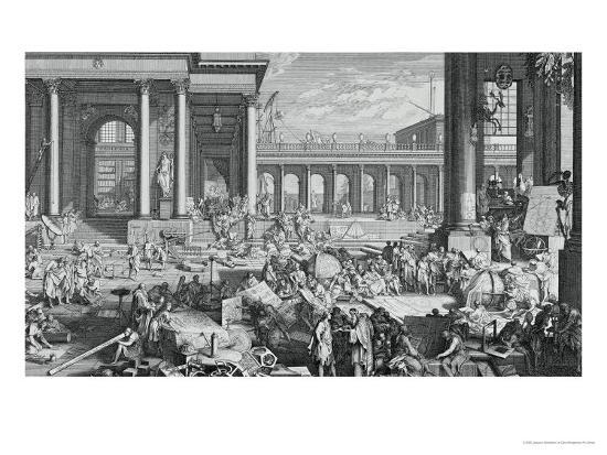 The Academy of Sciences and Fine Arts-Jacques Sébastien Le Clerc-Giclee Print