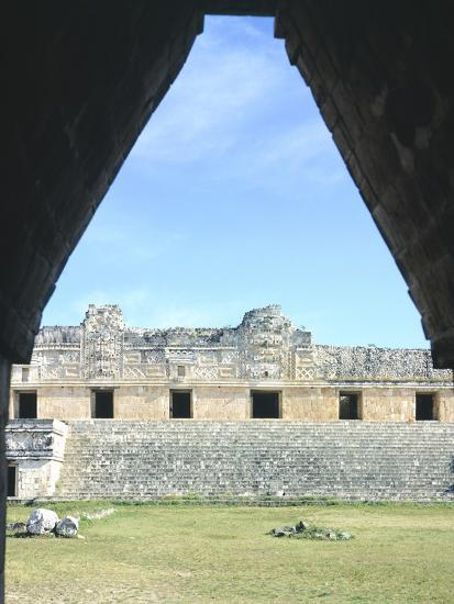 The Access Arch to the Nunnery Quadrangle in Uxmal--Photographic Print