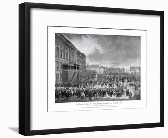 The Accession to the Throne of Frederick William IV of Prussia, 15 October 1840-Franz Kruger-Framed Giclee Print