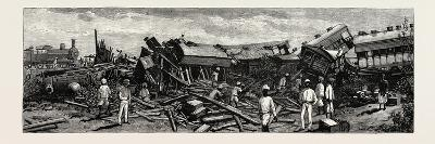 The Accident Near Nagpur on the Great Indian Peninsula Railway: the Wreck of the Leading Engine Is--Giclee Print