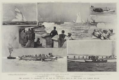 The Accident to Shamrock II on 22 May, the King's Visit to the Yacht and Narrow Escape-Henry Charles Seppings Wright-Giclee Print
