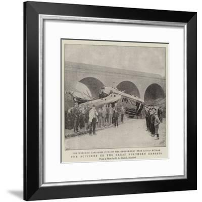 The Accident to the Great Northern Express--Framed Giclee Print
