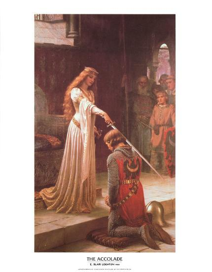 The Accolade-Edmund Blair Leighton-Art Print