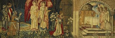 The Achievement of the Holy Grail by Sir Galahad, Sir Bors and Sir Percival-Edward Burne-Jones-Premium Giclee Print