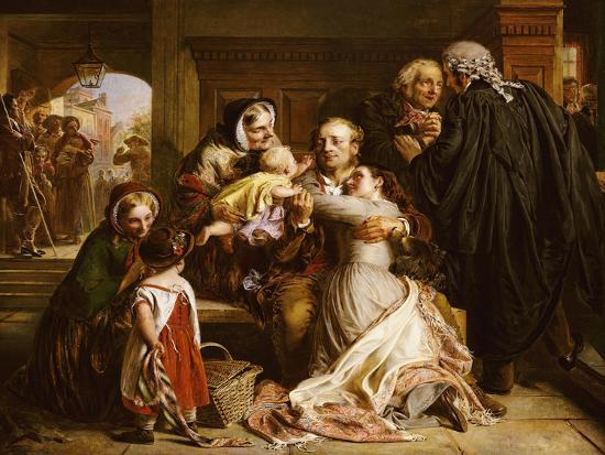 The Acquittal-Abraham Solomon-Giclee Print