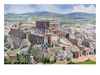 The Acropolis in Athens in Ancient Greece, 1914-G. Rehlender-Giclee Print