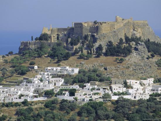 The Acropolis, Lindos, Rhodes, Dodecanese Islands, Greece Europe-Fraser Hall-Photographic Print