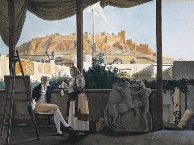 The Acropolis of Athens Seen from the House of the French Consul Louis-Francois-Sebastien Fauvel--Giclee Print