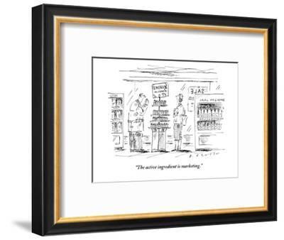 """The active ingredient is marketing."" - New Yorker Cartoon-Barbara Smaller-Framed Premium Giclee Print"