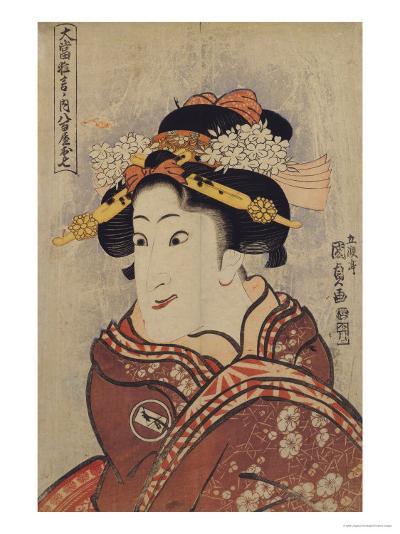 The Actor Iwai Hanshiro V as Yaoya Oshici, circa 1815-Utagawa Kunisada-Giclee Print