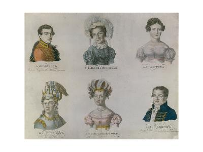 The Actors of Pushkin's Time, 1820S--Giclee Print